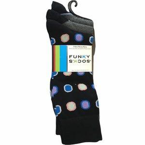 Funky Socks 3 Pack Polka Dot Socks, Gray